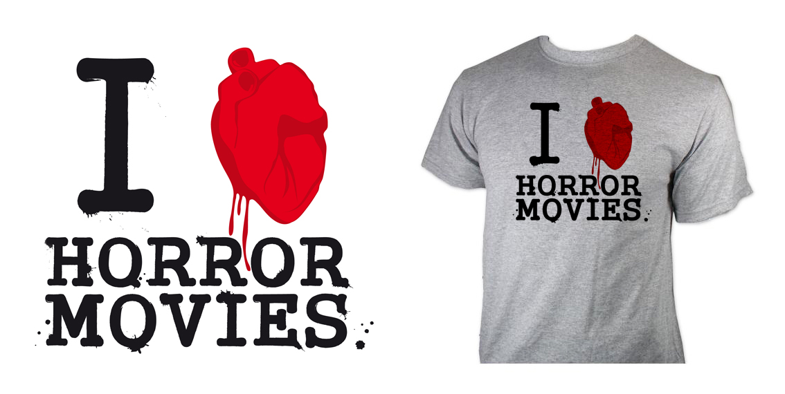 Tshirt Horror movies